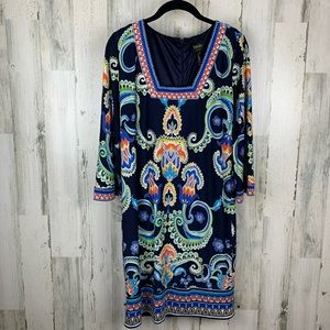 Laundry beautiful blue long sleeve dress. Size 8